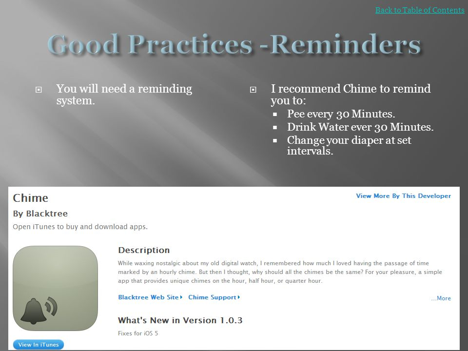 Good Practices -Reminders