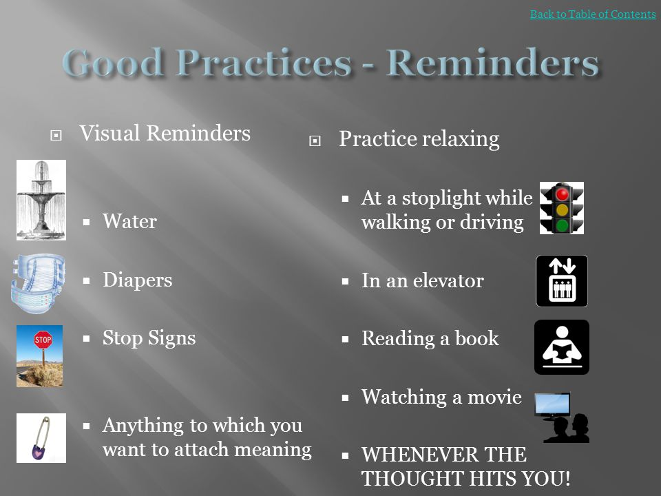 Good Practices - Reminders