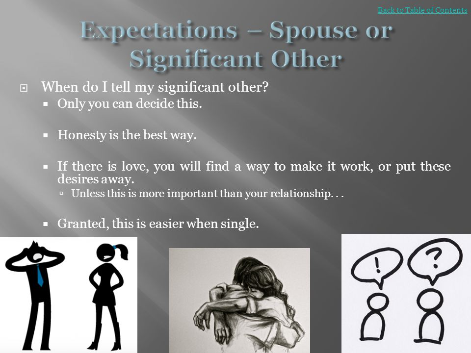 Expectations – Spouse or Significant Other