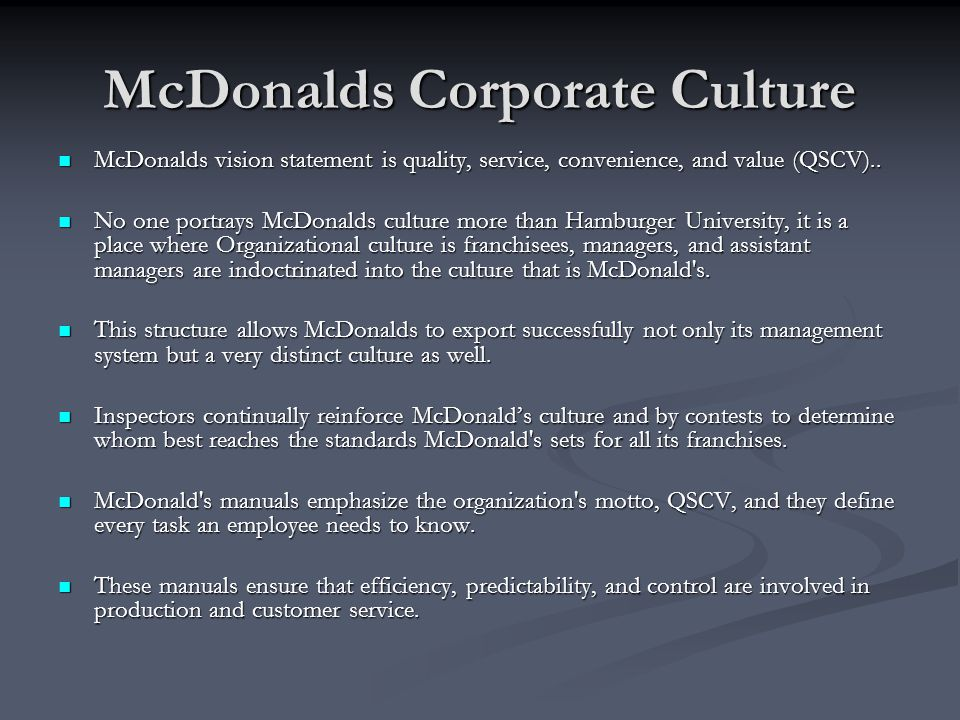 mcdonalds and its management theories The menu you love, plus so much more, goes the commercial in mcdonald's site  but judging from the company's sales in recent years,.