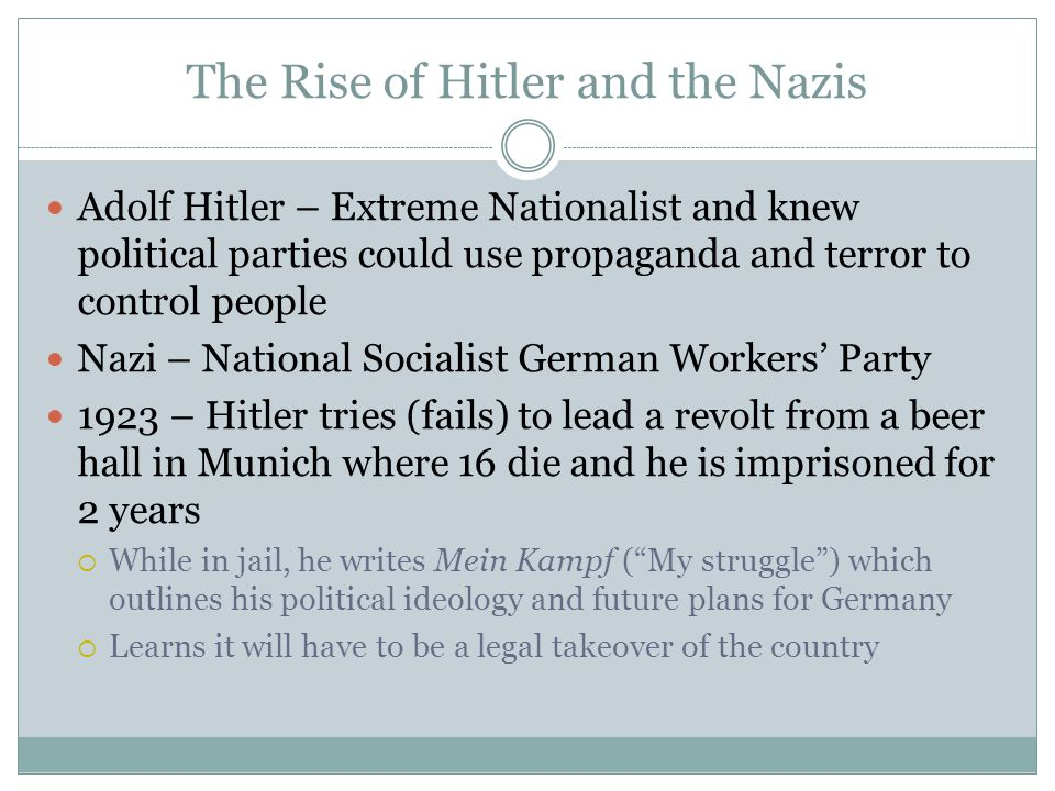 the rise of adolf hitler from legal chancellor to legal dictator The era of the rise of adolf hitler lasted from about 1932 ad until 1939 ad it began when forty-three-year-old adolf hitler was appointed chancellor of germany it then ended on the eve of world war ii, the deadliest conflict in human history.