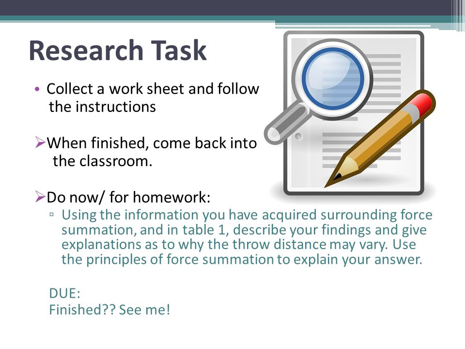 task 1 what is research