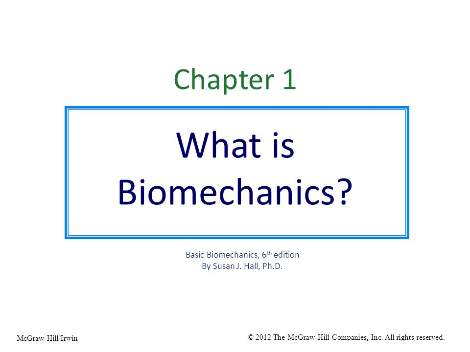 Basic Biomechanics 6th Edition
