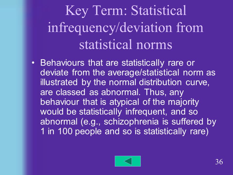 strength of deviation from statistical norms Clinical significance: a statistical approach to defining  deviation solution (a)  but ideally norms would also.