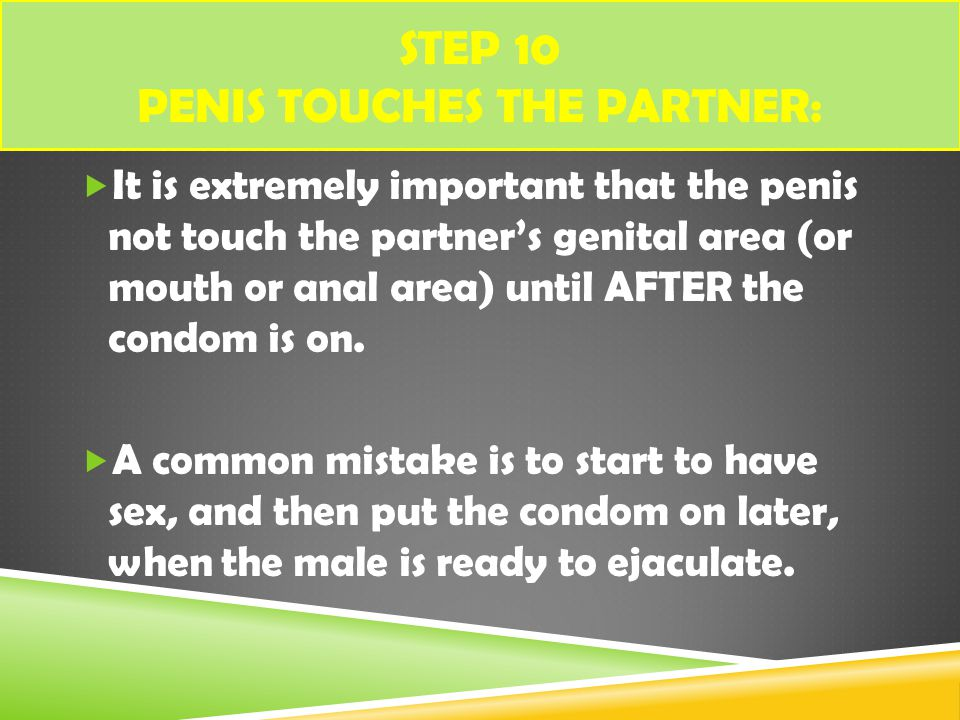 Step 10 Penis touches the partner: