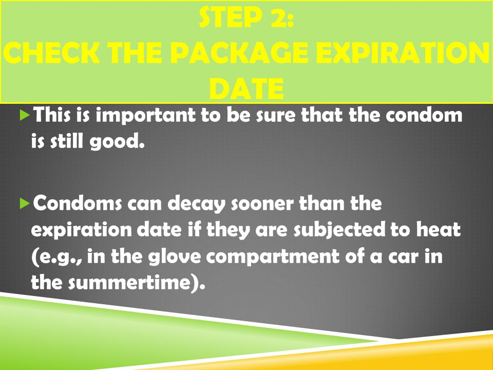 Step 2: Check the package expiration date