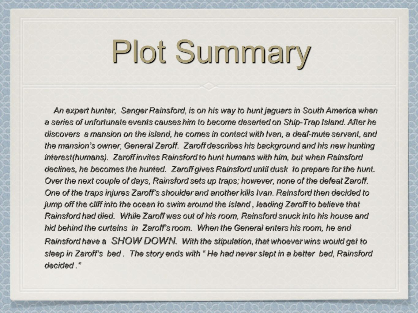 Plot vs summary