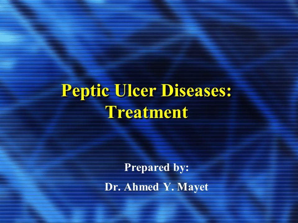 Peptic Ulcer Diseases: Treatment