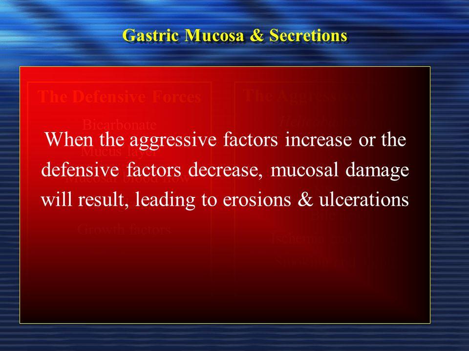 Gastric Mucosa & Secretions
