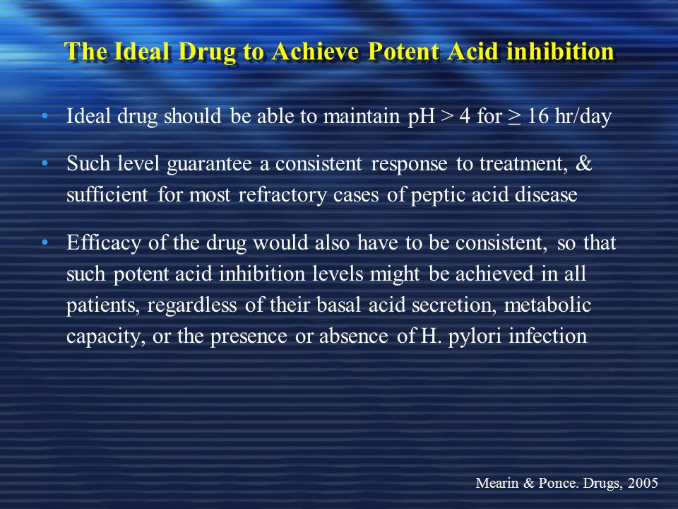 The Ideal Drug to Achieve Potent Acid inhibition