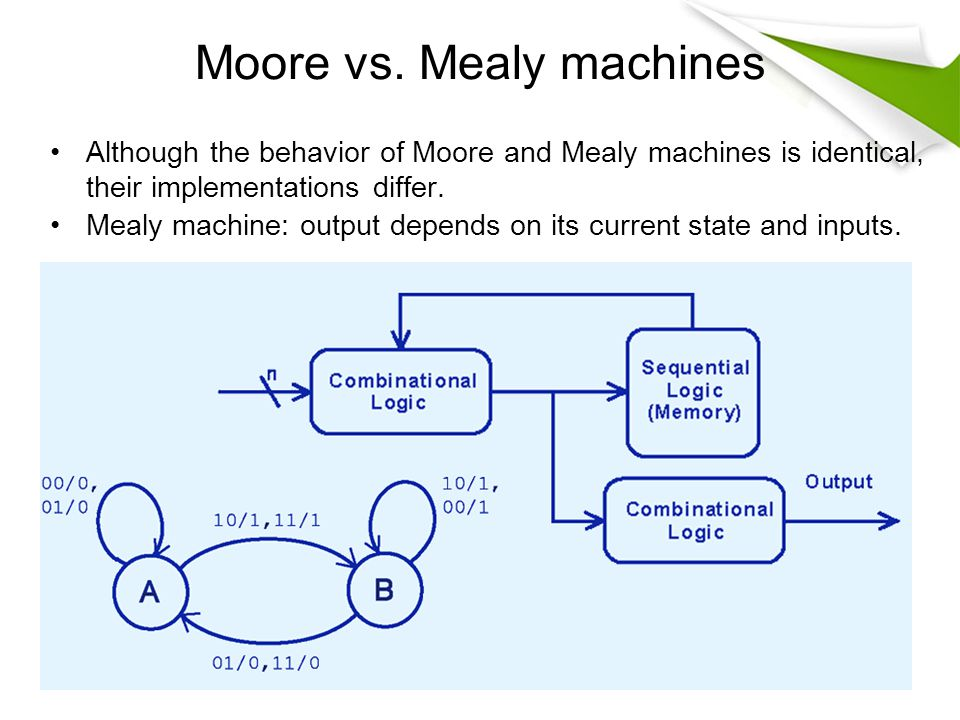 machine vs mealy machine