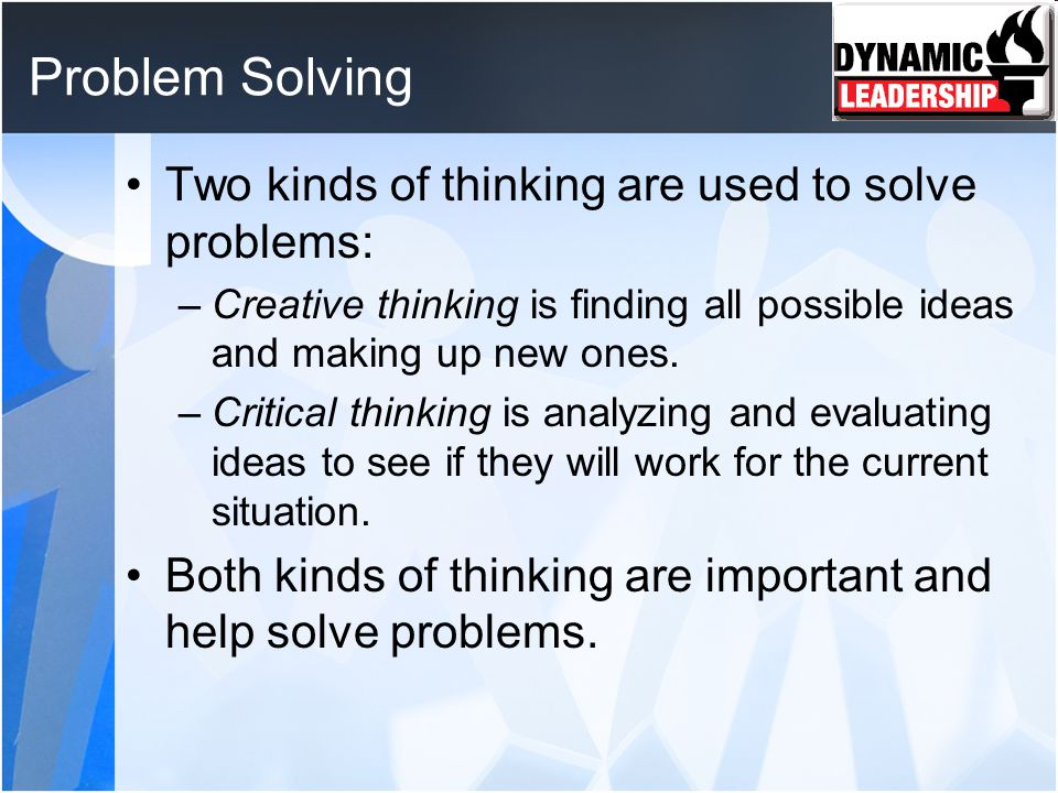 discuss the importance of critical thinking in problem solving Critical thinking: a literature review  critical thinking, reasoning, problem solving   educators have long been aware of the importance of critical thinking.