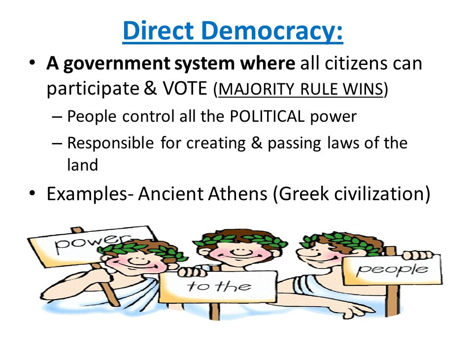 [SUPPORTING STANDARD] - ppt video online download Direct Democracy Examples