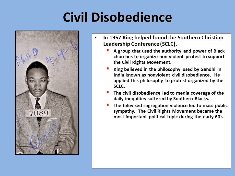 an introduction to the non violent civil disobedience as a means of protest Mississippi valley state university students protest the decision by then  on violence and nonviolence: the civil rights  the most racist and violent.