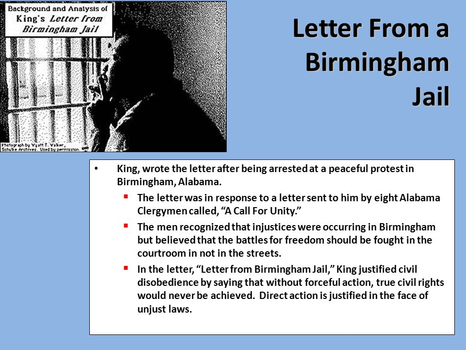 an analysis of letter from birmingham