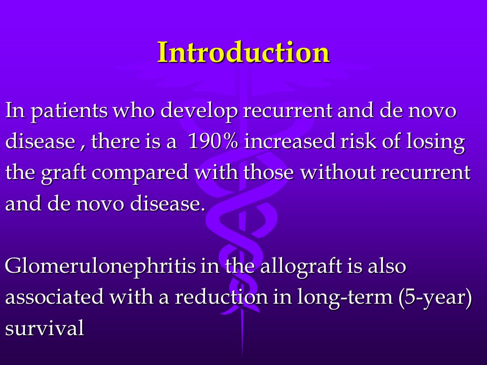 Introduction In patients who develop recurrent and de novo