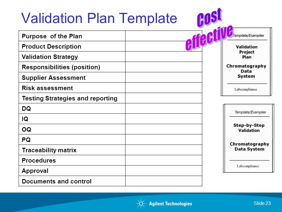 Validation Master Plans