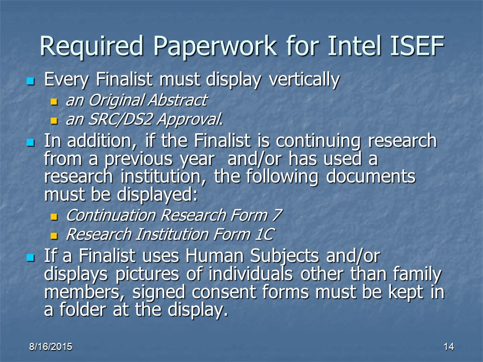 science fair research paper isef Instructions - instructions & rules for the northeast arkansas regional science fair  science and engineering fair 2018 (intel isef  research paper and.