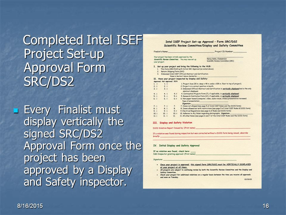 Designing an Intel ISEF Affiliated Science Fair Project Display ...