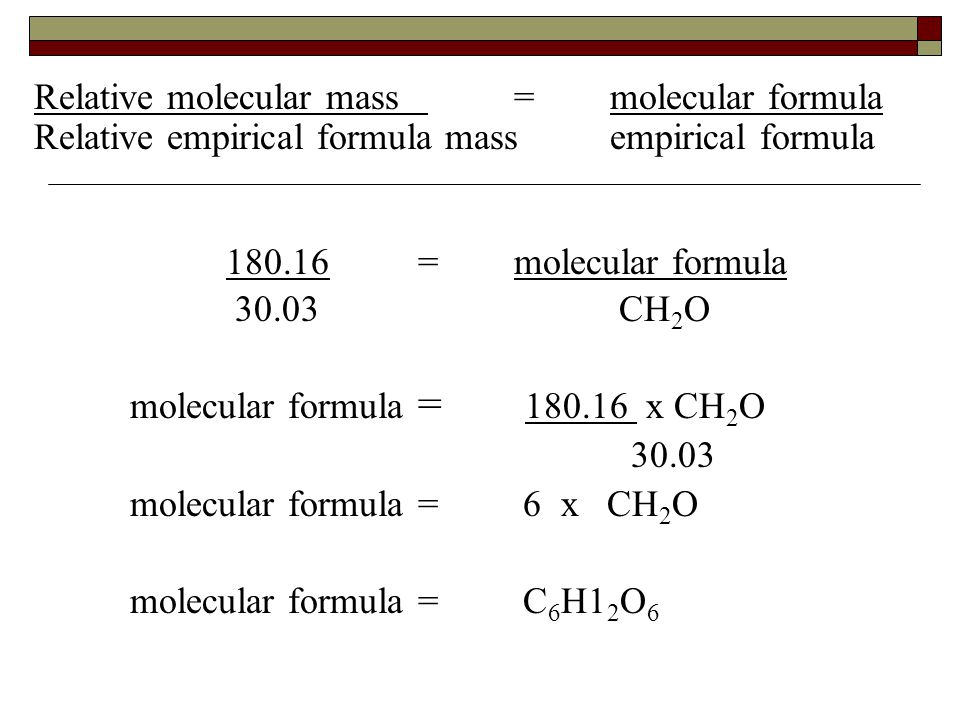Relative Molecular Mass Formula - Free worksheets library ...