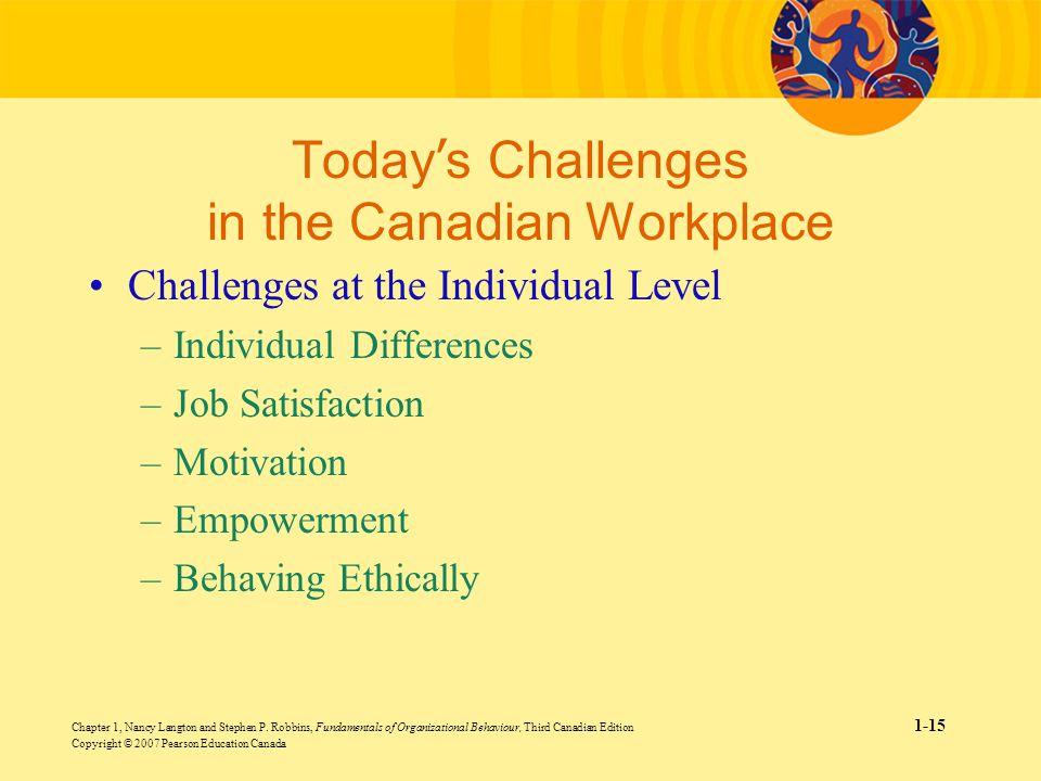 emerging challenges in organisational behaviour The emerging challenges are: managing diversity, ethical behaviour, technology transformation, changing workforce demographics, changed employee.