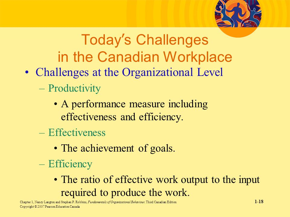 emerging challenges in organisational behaviour Organizational behavior (ob) is a discipline that includes principles from   impact that goal specificity, challenge, and feedback has on motivation and  performance  channels, created spontaneously and emerging out of individual  choice.