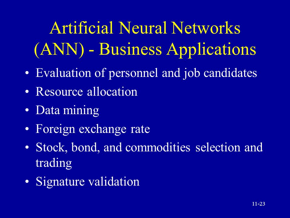 business artificial neural network and data Artificial neural networks models and  artificial neural networks models and applications edited by  artificial neural network as a fpga trigger for a.