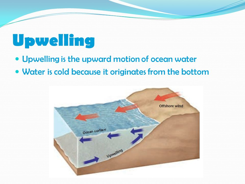 Upwelling Upwelling is the upward motion of ocean water