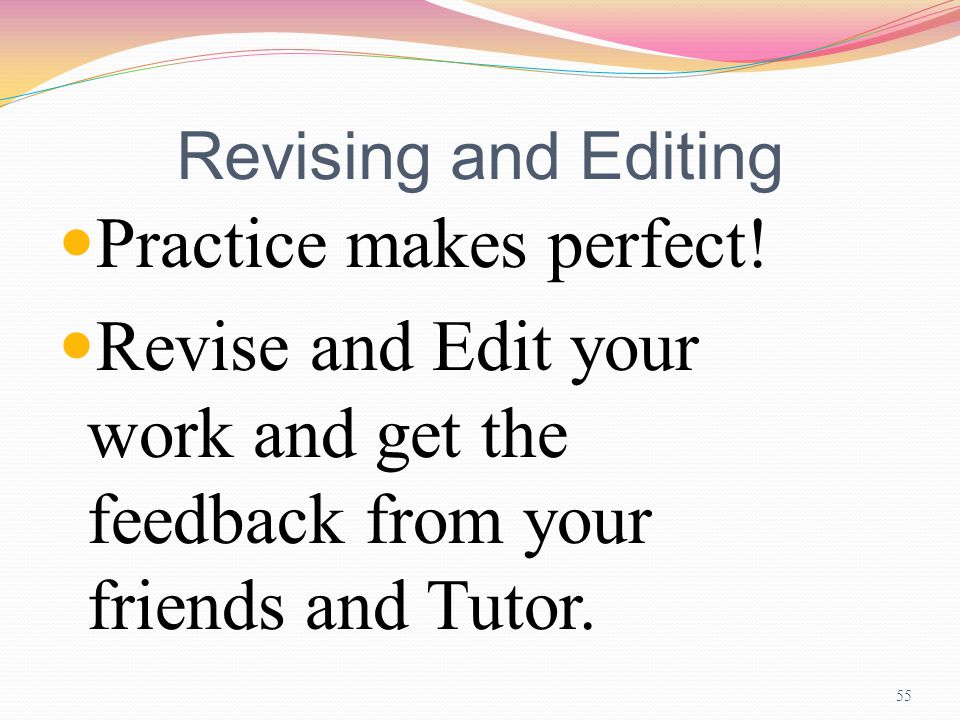 practice make perfect essay Practice makes perfect this essay practice makes perfect and other 64,000+ term papers, college essay examples and free essays are available now on reviewessayscom autor: review • november.