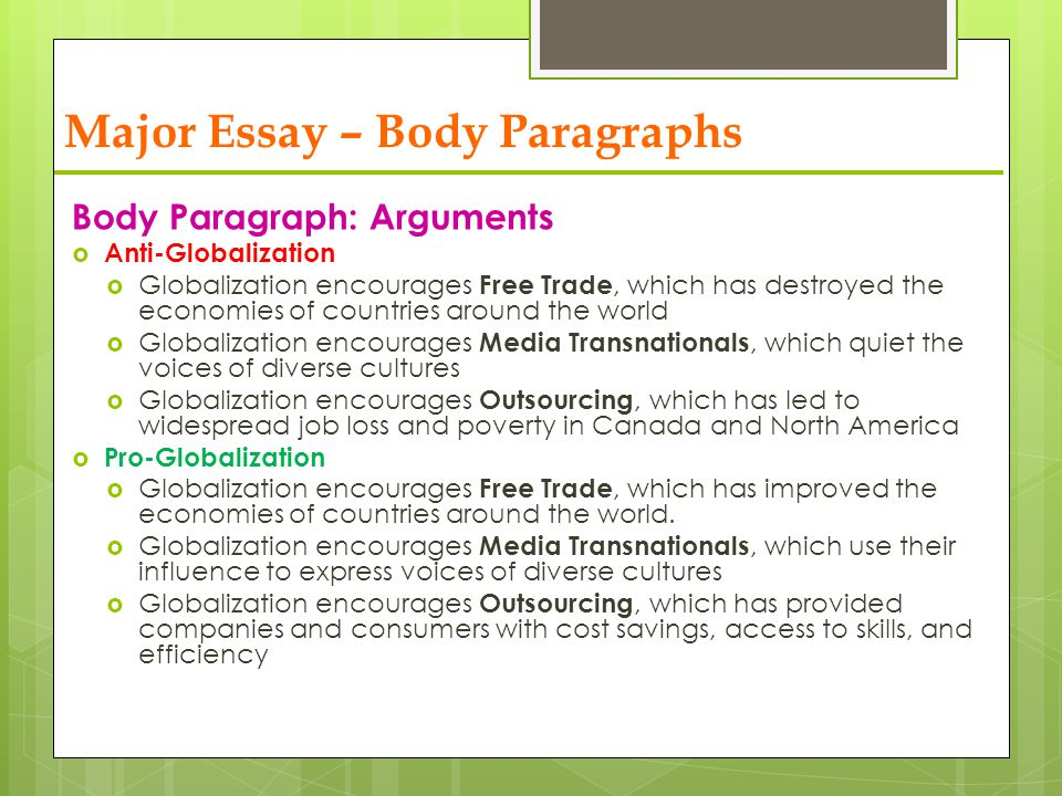 social globalization ppt video online  major essay body paragraphs