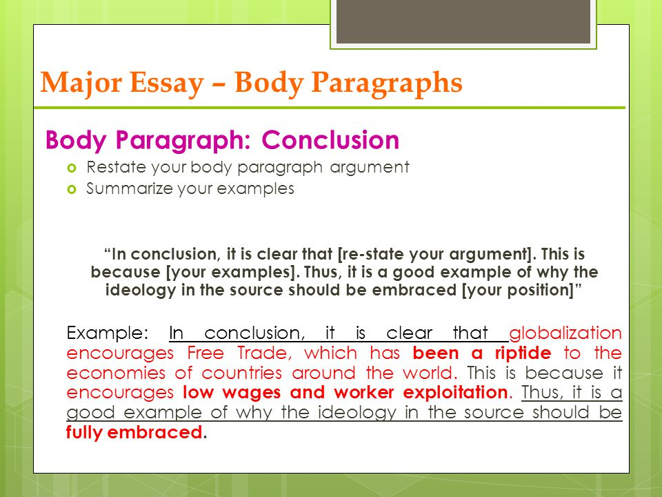 analytical essay body paragraphs A critical analysis essay puts you, the writer, in the position of judging a  the  analysis is broken into multiple body paragraphs, much like other.