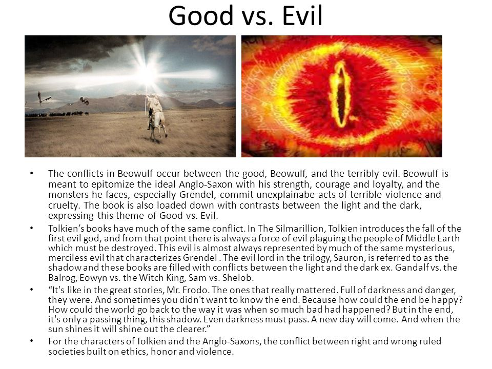 Beowulf good vs evil research paper