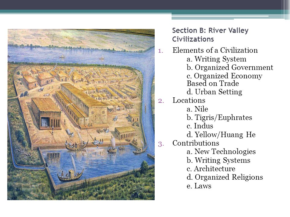Neolithic revolution river valley civilizations ppt video online section b river valley civilizations sciox Choice Image