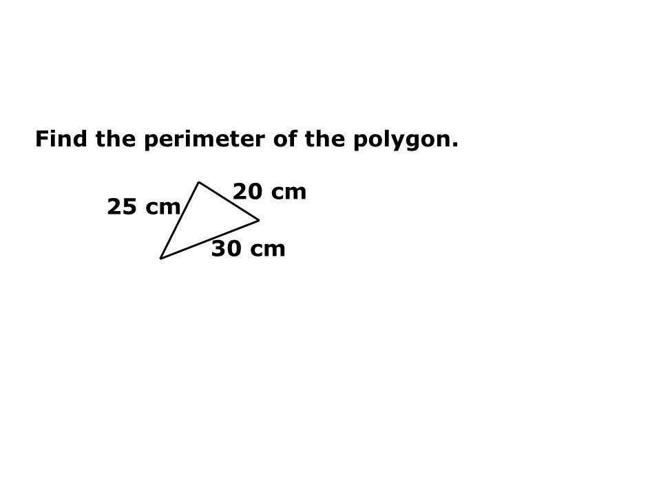 Find the perimeter of the polygon.