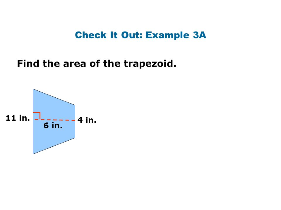 Find the area of the trapezoid.