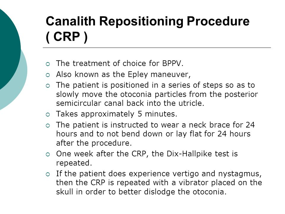 Canalith Repositioning Procedure