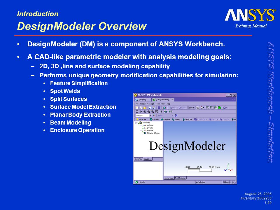 Parametric study ansys software