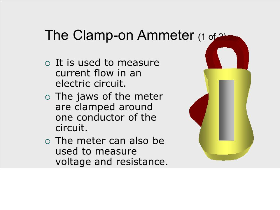 Clamp On Milliammeter : Section safety tools and equipment shop practices