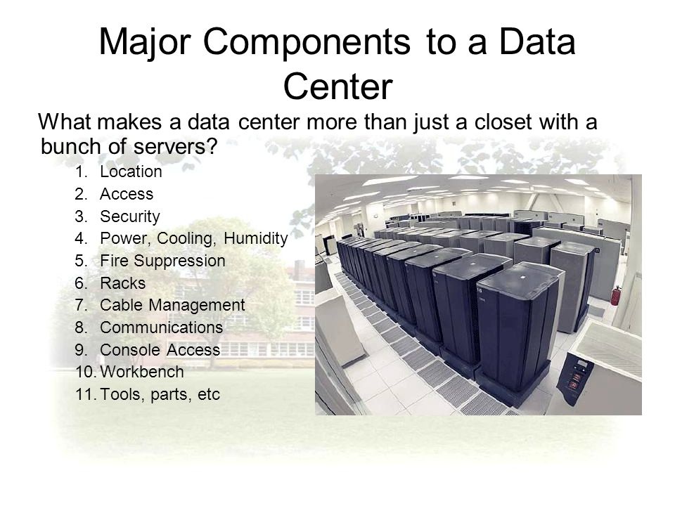 Ist 346 Chapter 6 Data Centers Ppt Download