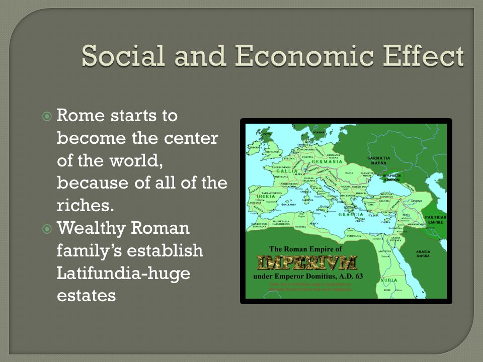 Social and Economic Effect