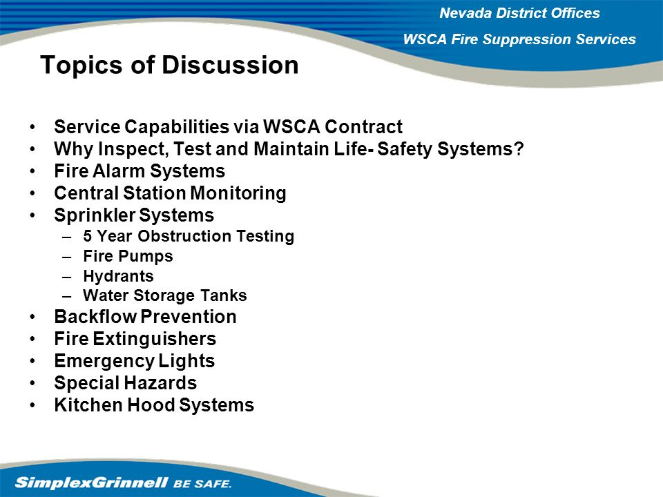 Topics of Discussion Service Capabilities via WSCA Contract