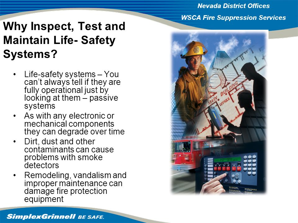 Why Inspect, Test and Maintain Life- Safety Systems
