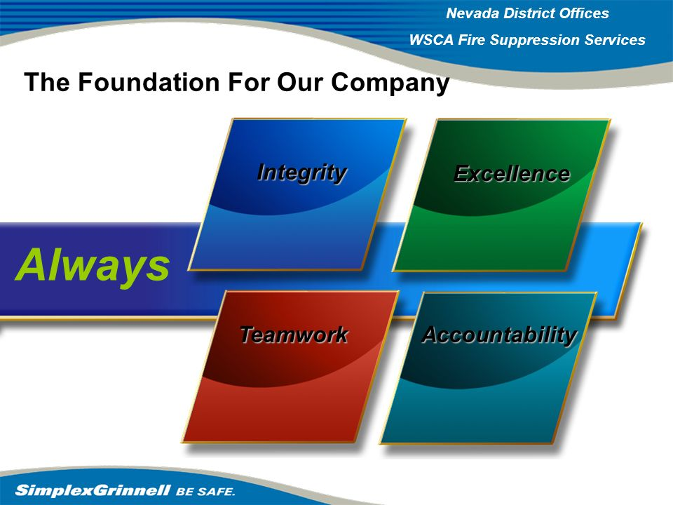 The Foundation For Our Company