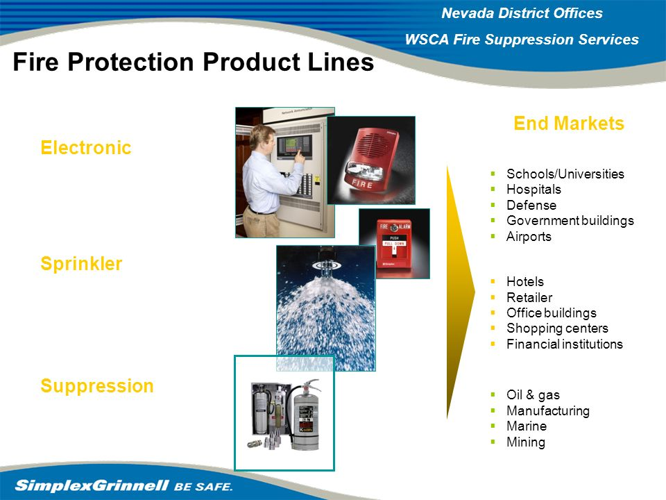 Fire Protection Product Lines