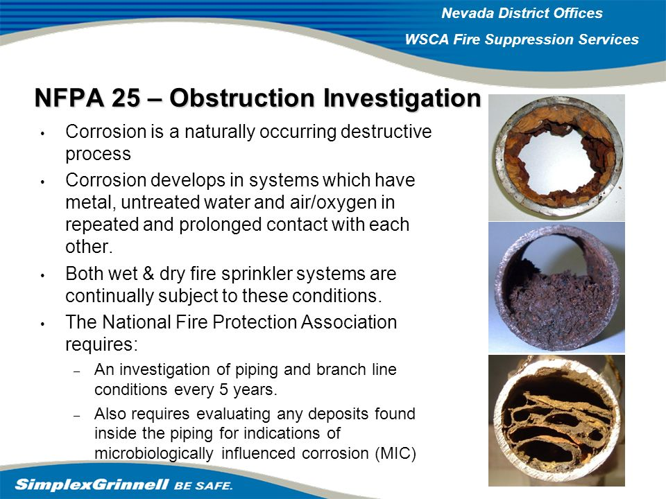 NFPA 25 – Obstruction Investigation