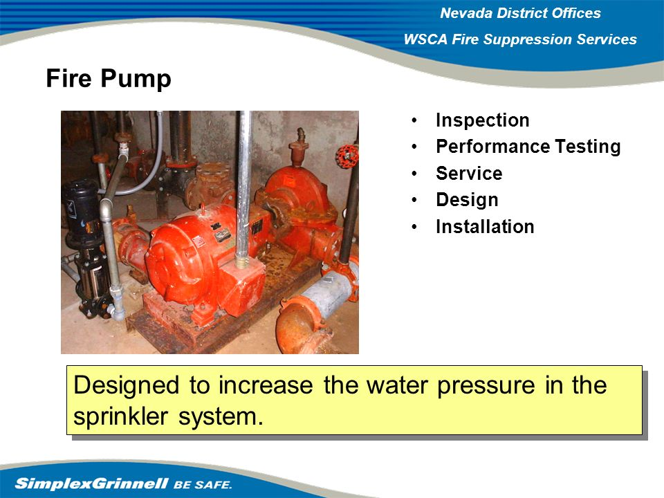 Designed to increase the water pressure in the sprinkler system.
