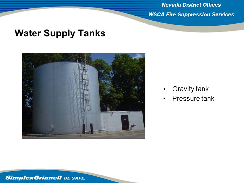 Water Supply Tanks Gravity tank Pressure tank