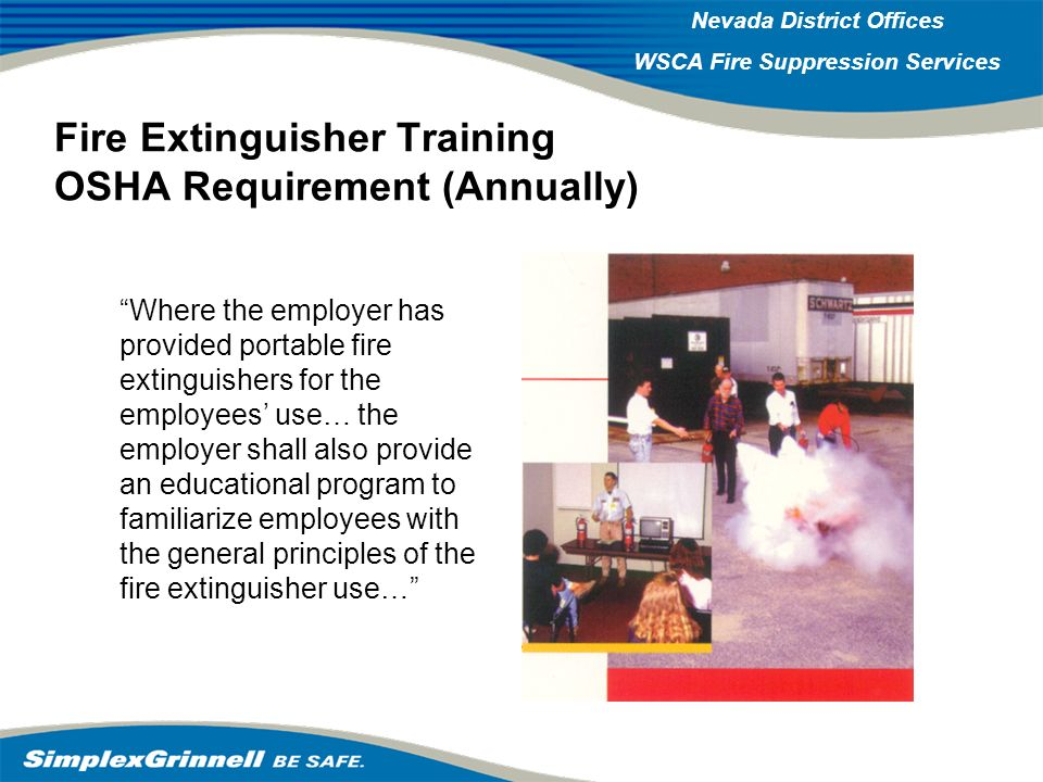 Fire Extinguisher Training OSHA Requirement (Annually)