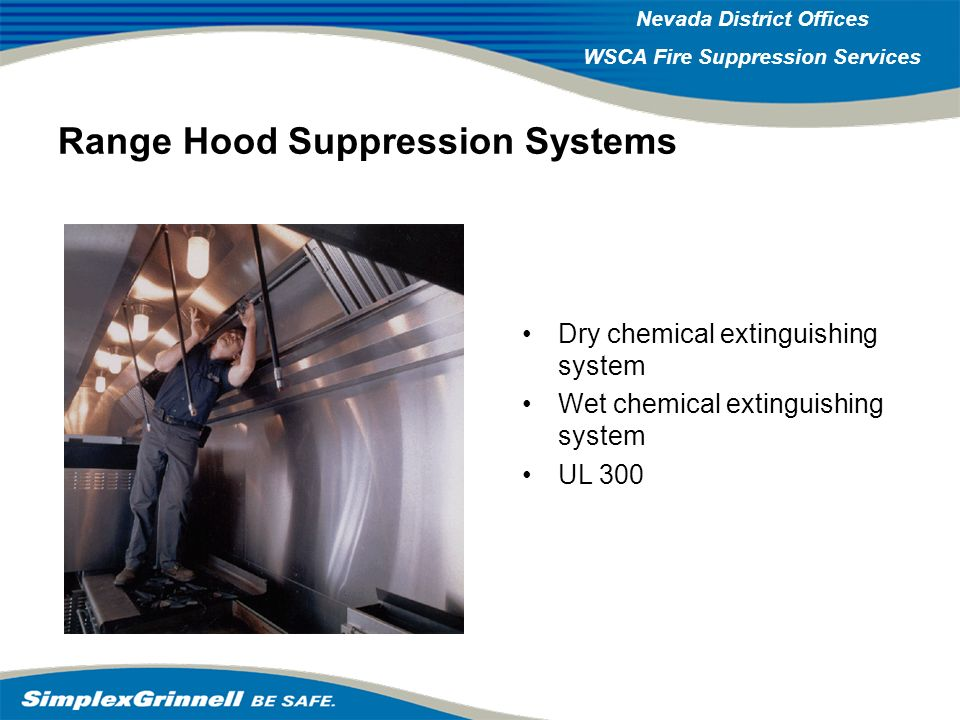 Range Hood Suppression Systems