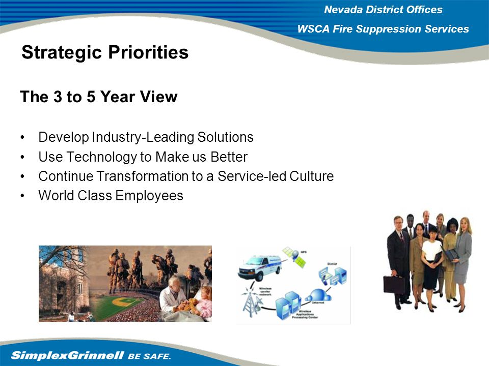 Strategic Priorities The 3 to 5 Year View